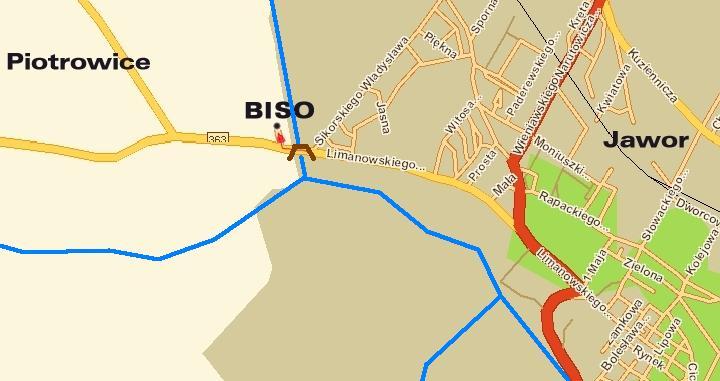 BISO mapa dojazdu